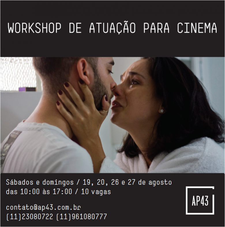 Workshop extensivo de interpretação para cinema